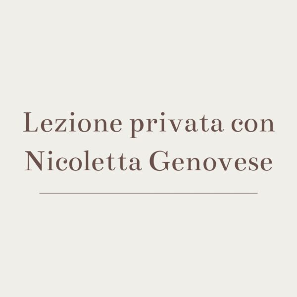 Lezione privata con nicoletta genovese